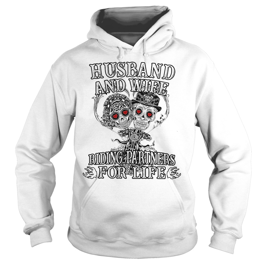 Skeletons Husband And Wife Riding Partners For Life Hoodie