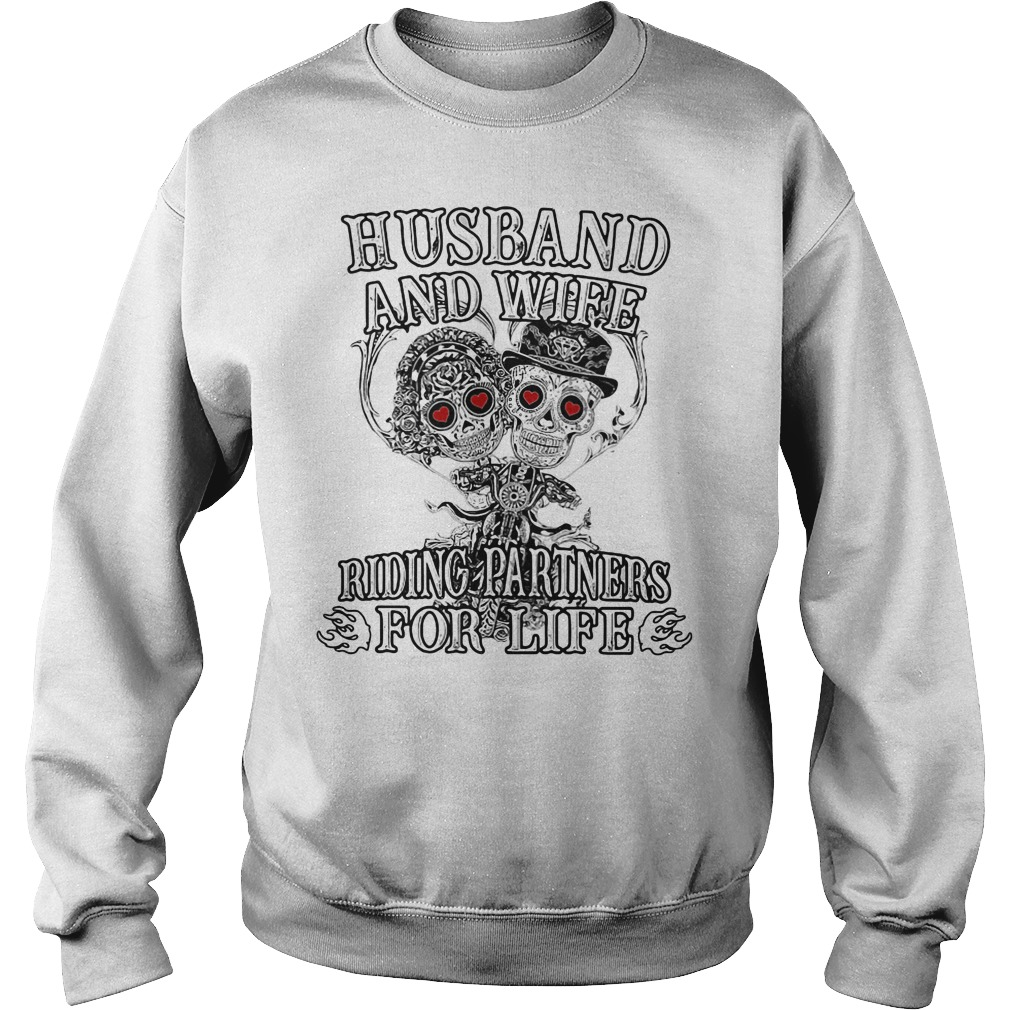 Skeletons Husband And Wife Riding Partners For Life Sweater