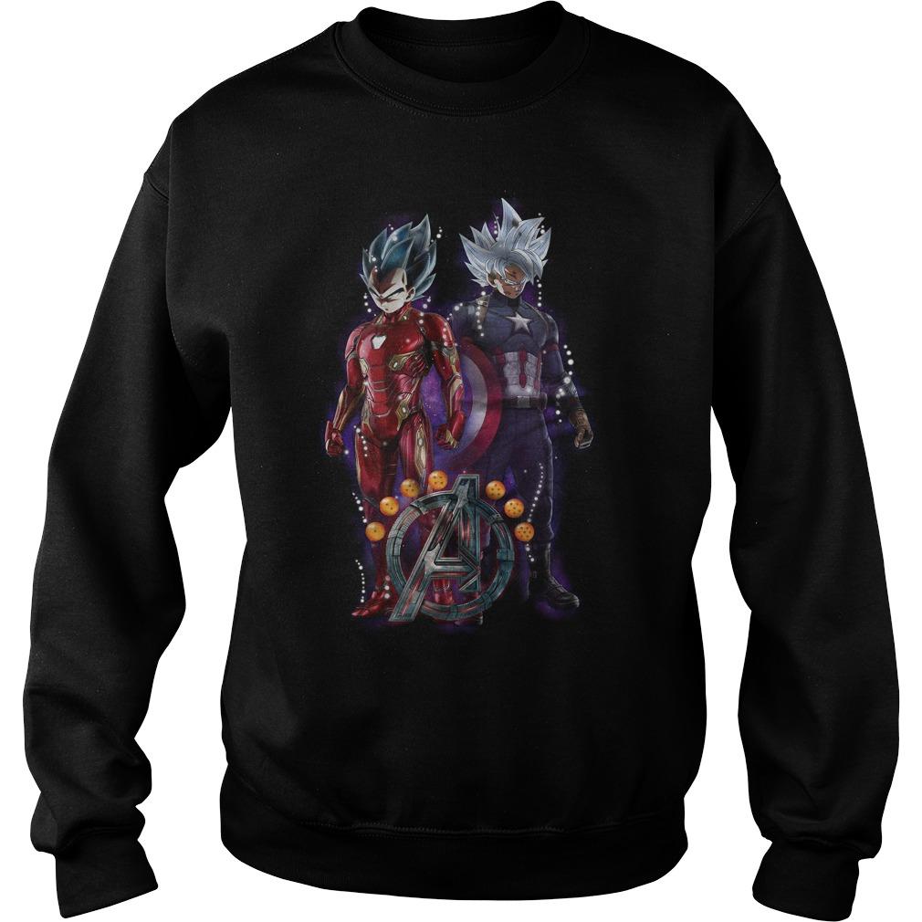 Songoku Vs Vegeta Dragon Ball Z Marvel Avengers Endgame Sweater