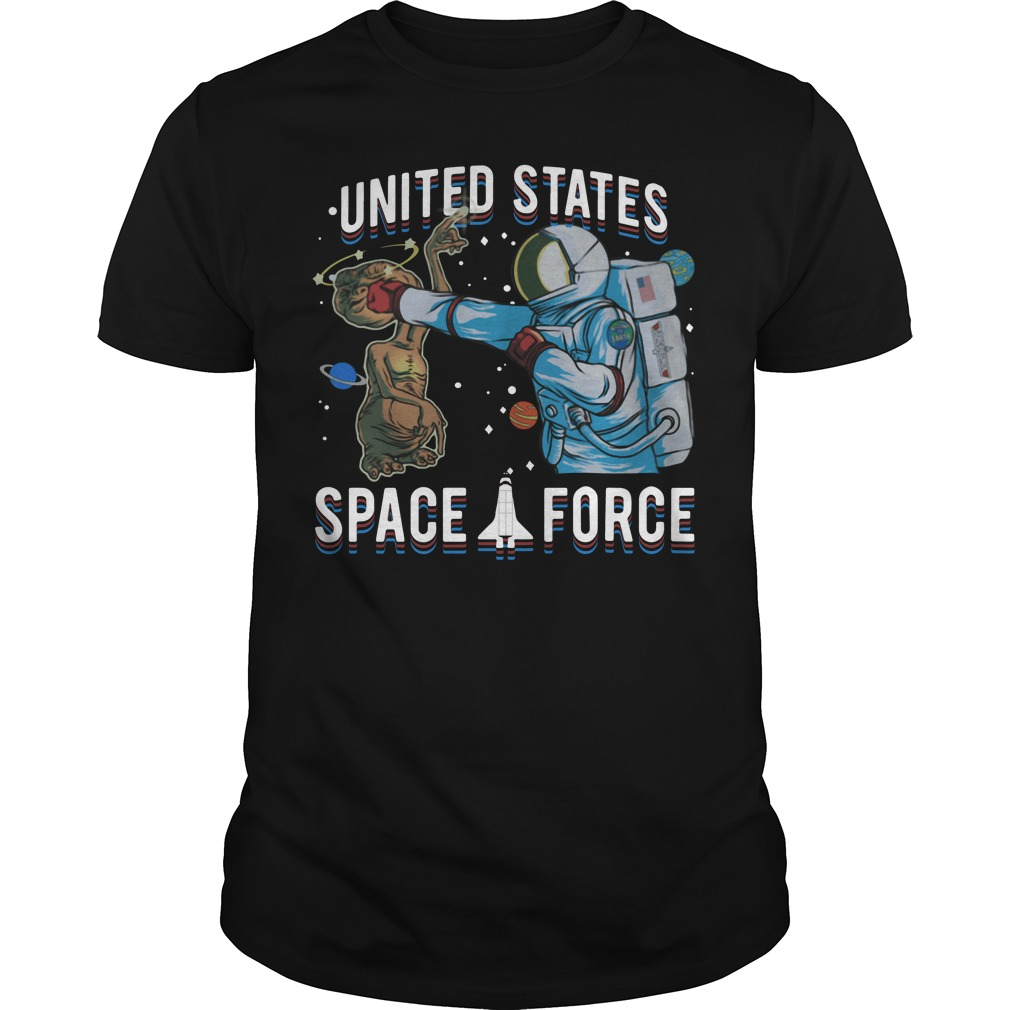 Space Force E.T. Alien Patrol Parody United States Space Force Guy Tees