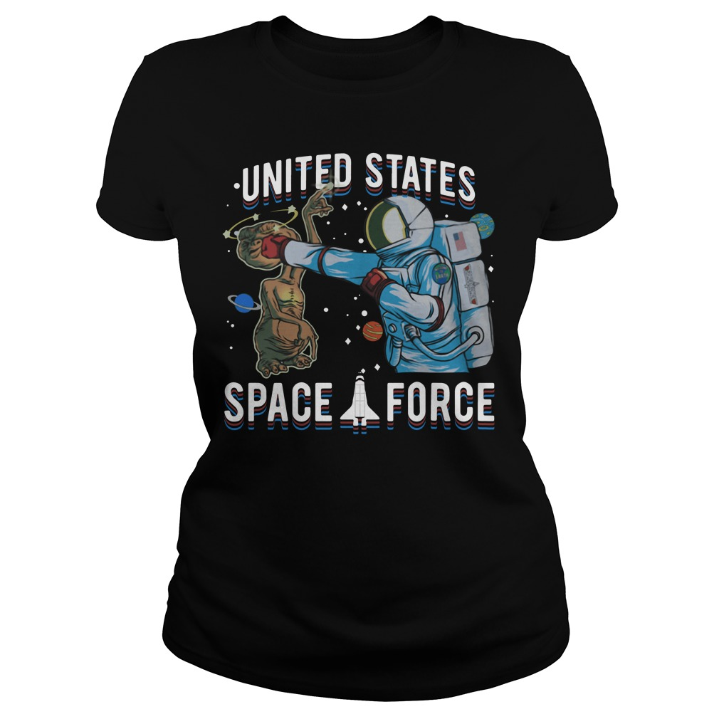 Space Force E.T. Alien Patrol Parody United States Space Force Ladies Tee