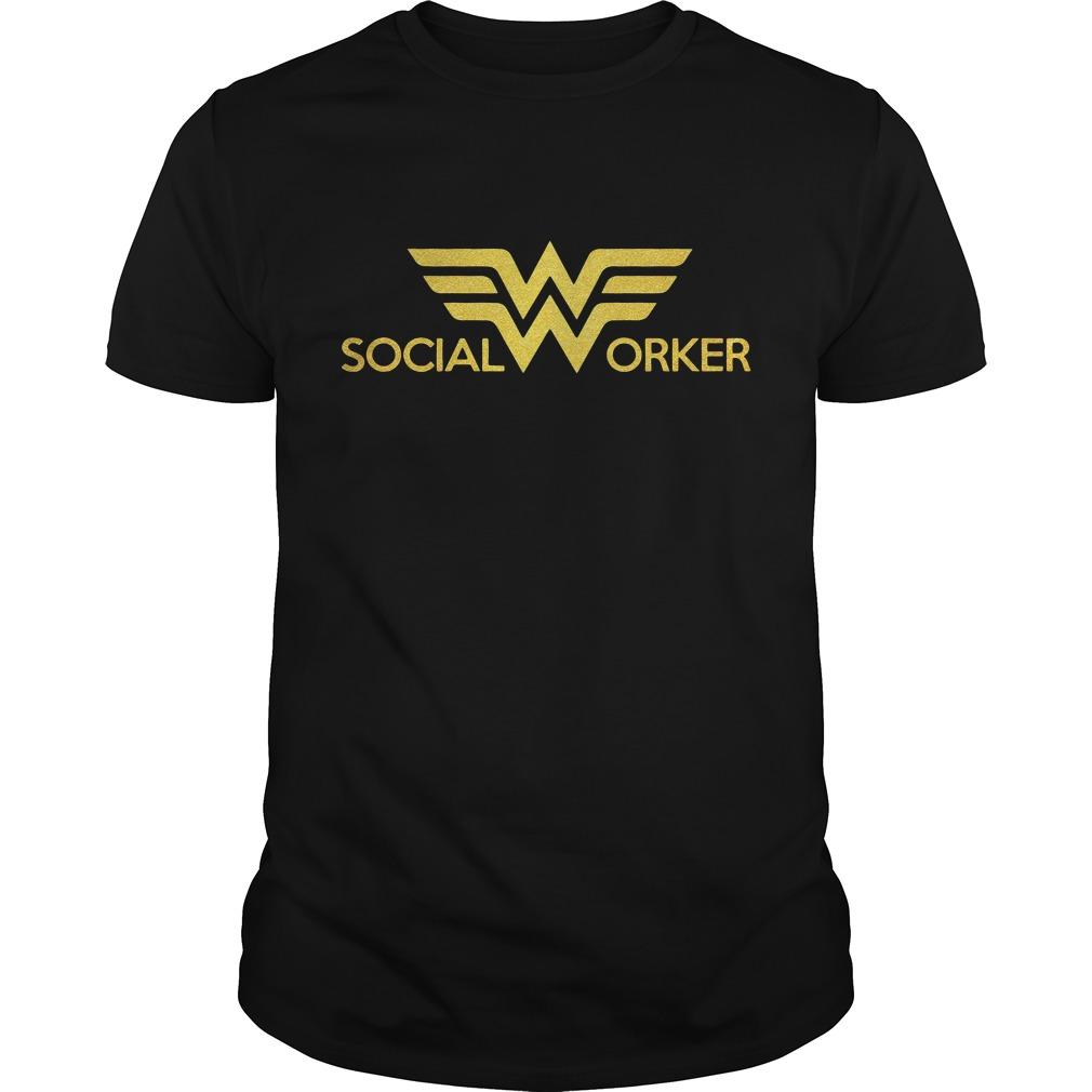 Wonder Woman Social Worker Guy Tees