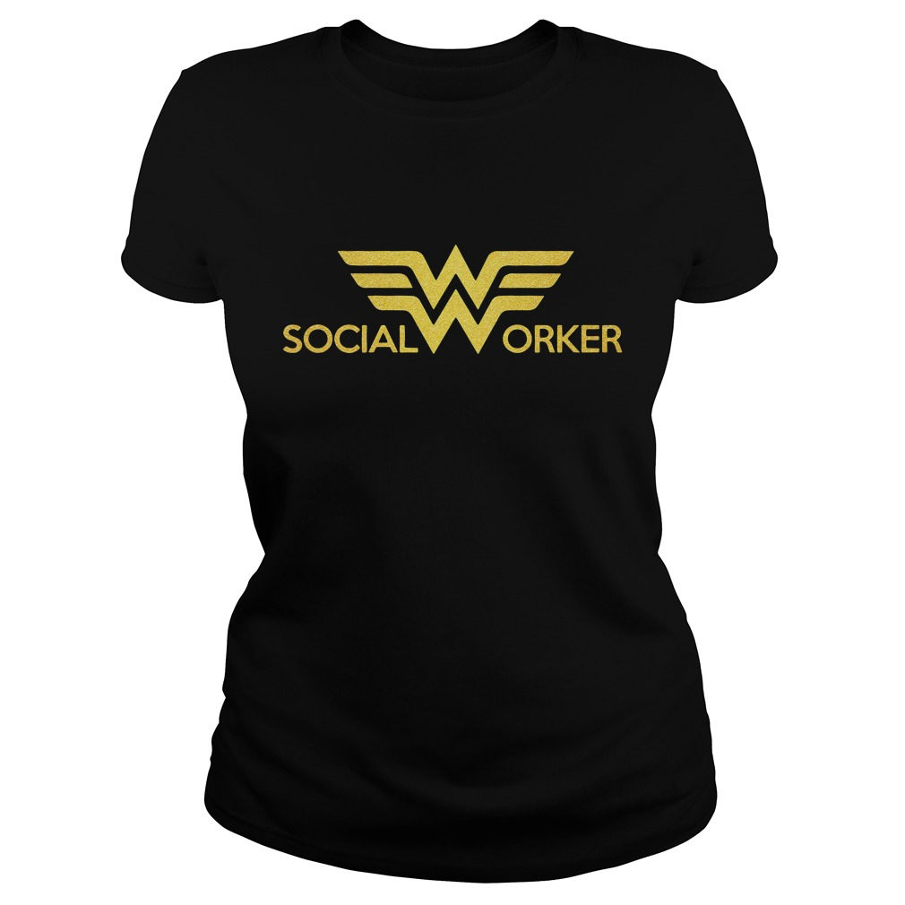 Wonder Woman Social Worker Ladies Tee
