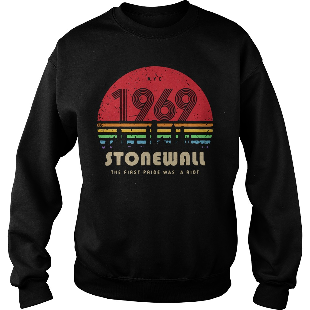 1969 Stonewall The First Pride Was A Riot Retro Sweater