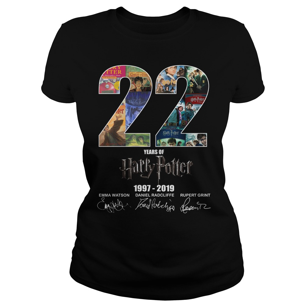 22 Years Of Harry Potter 1997-2019 Signature Ladies Tee
