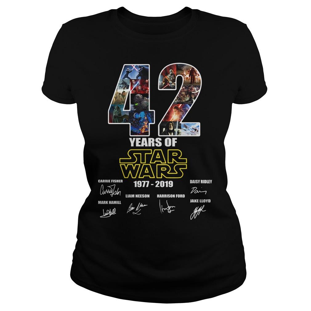 42 Years Of Star War 1977-2019 Signature Ladies Tee