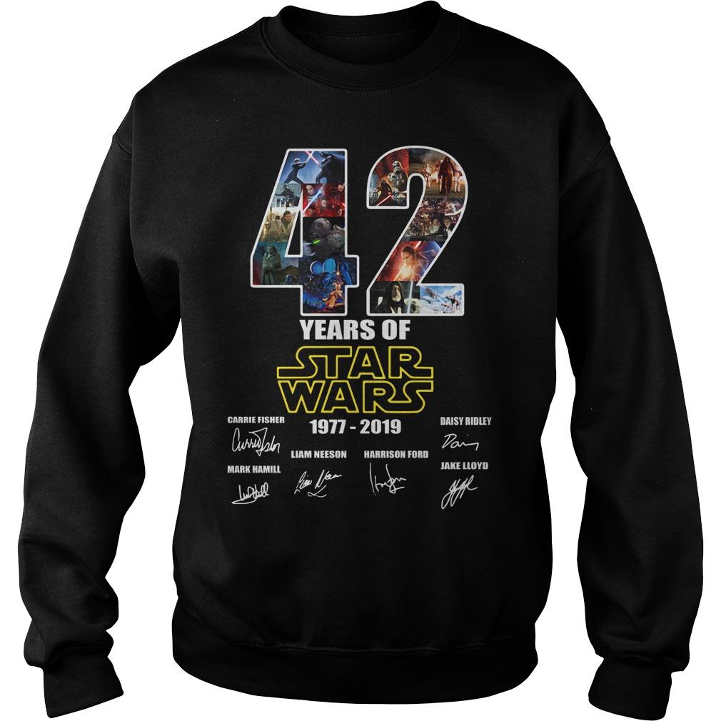 42 Years Of Star War 1977-2019 Signature Sweater