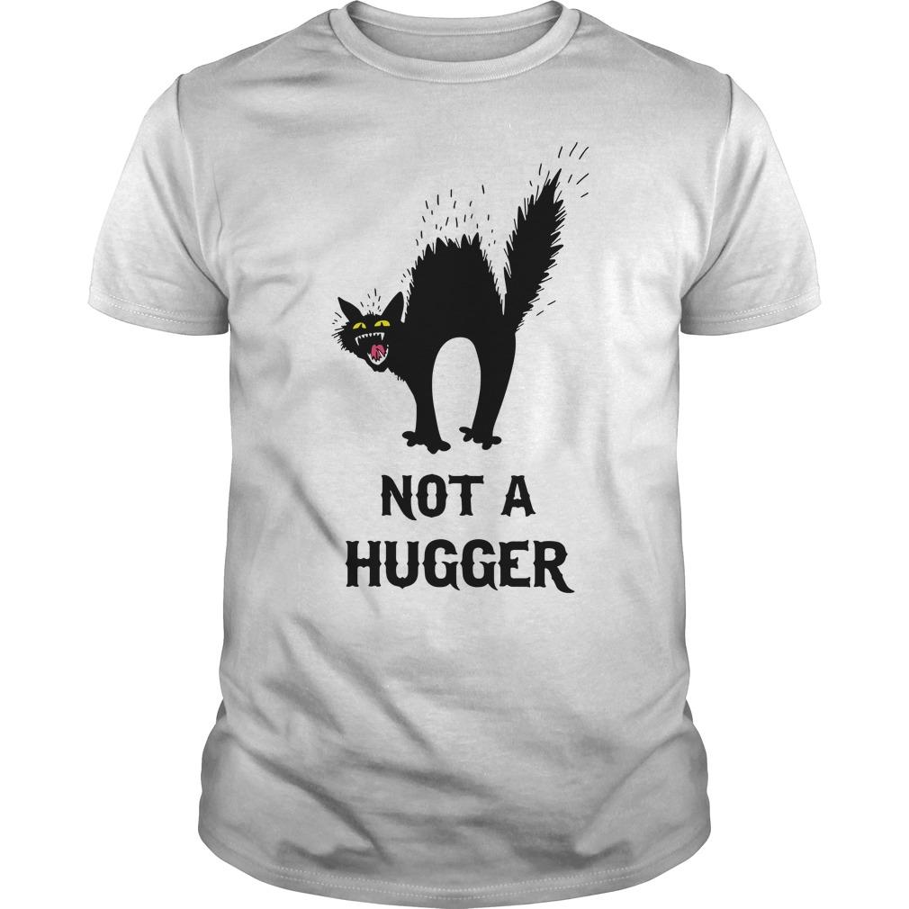Black Cat Not A Hugger Guy Tees