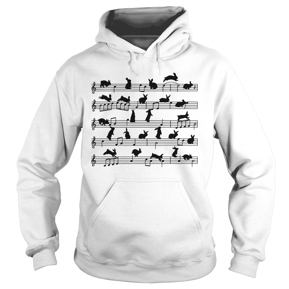 Bunnies On Staves Hoodie