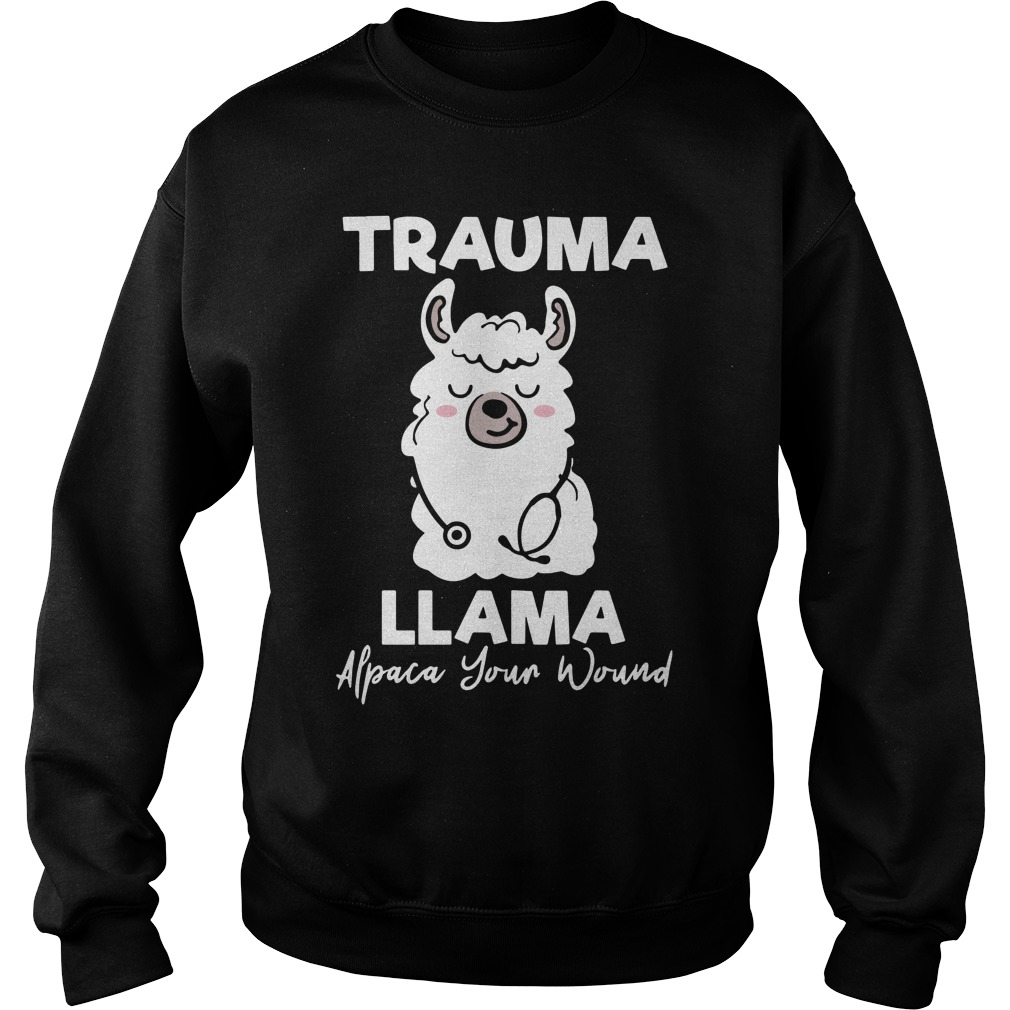 Cute Llama Trauma Llama Alpaca Your Wound Sweater