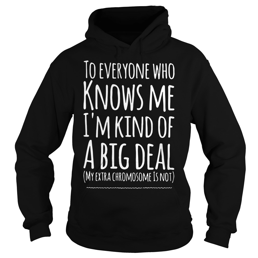 To Everyone Who Knows Me I'M Kind Of A Big Deal Hoodie