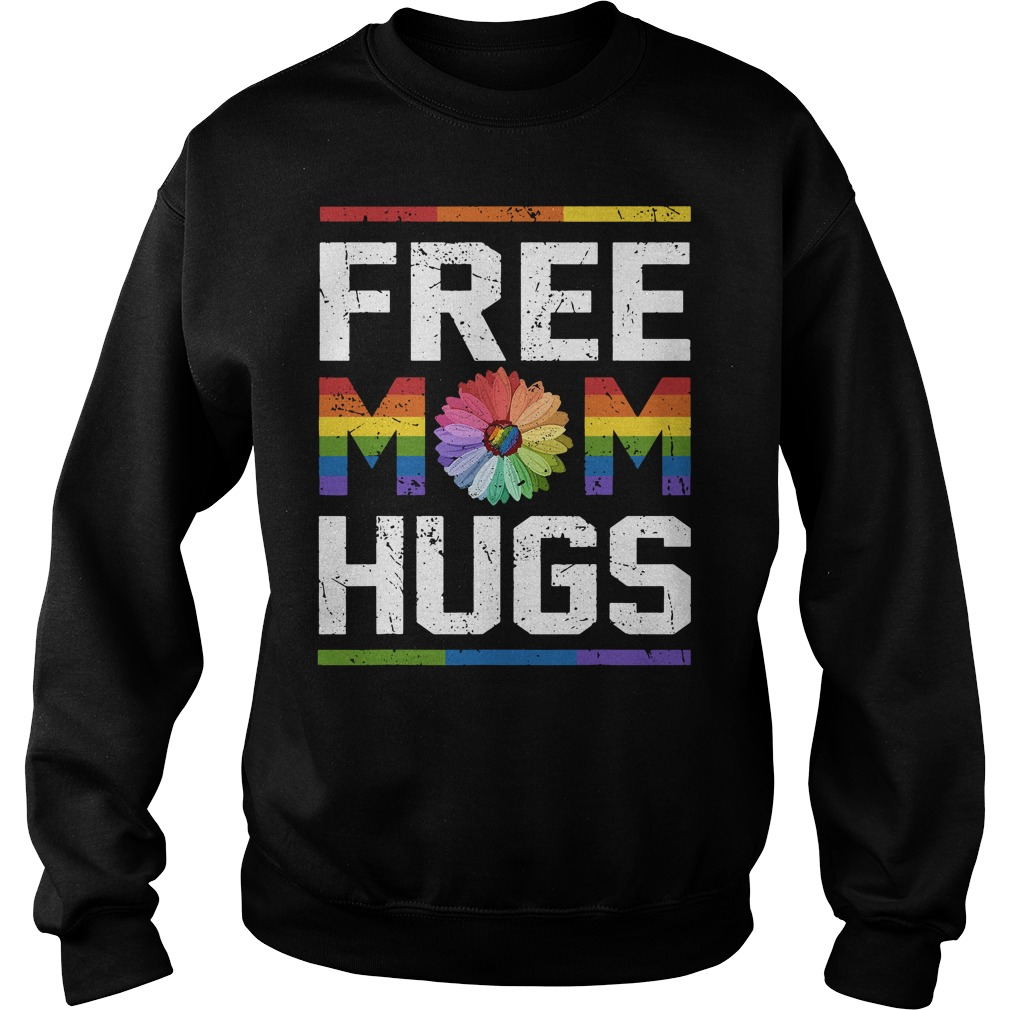 Lgbt Flower Free Mom Hugs Sweater
