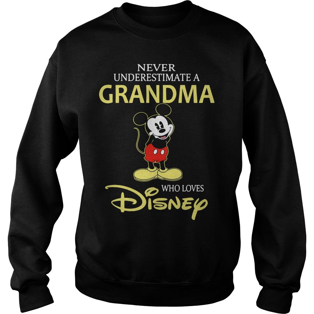 Mickey Never Underestimate A Grandma Who Loves Disney Sweater