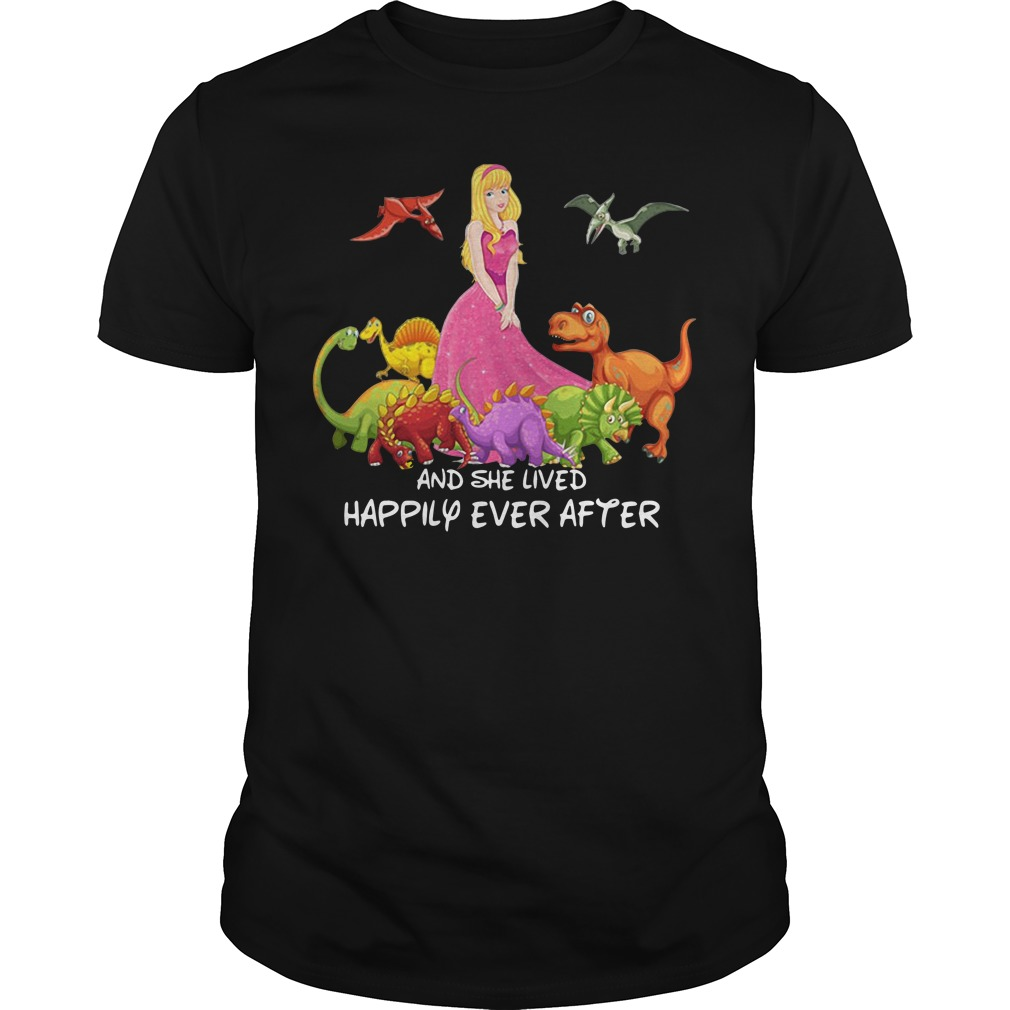 Sleepy Beauty And Dinosaurs And She Lived Happily Ever After Guy Tees