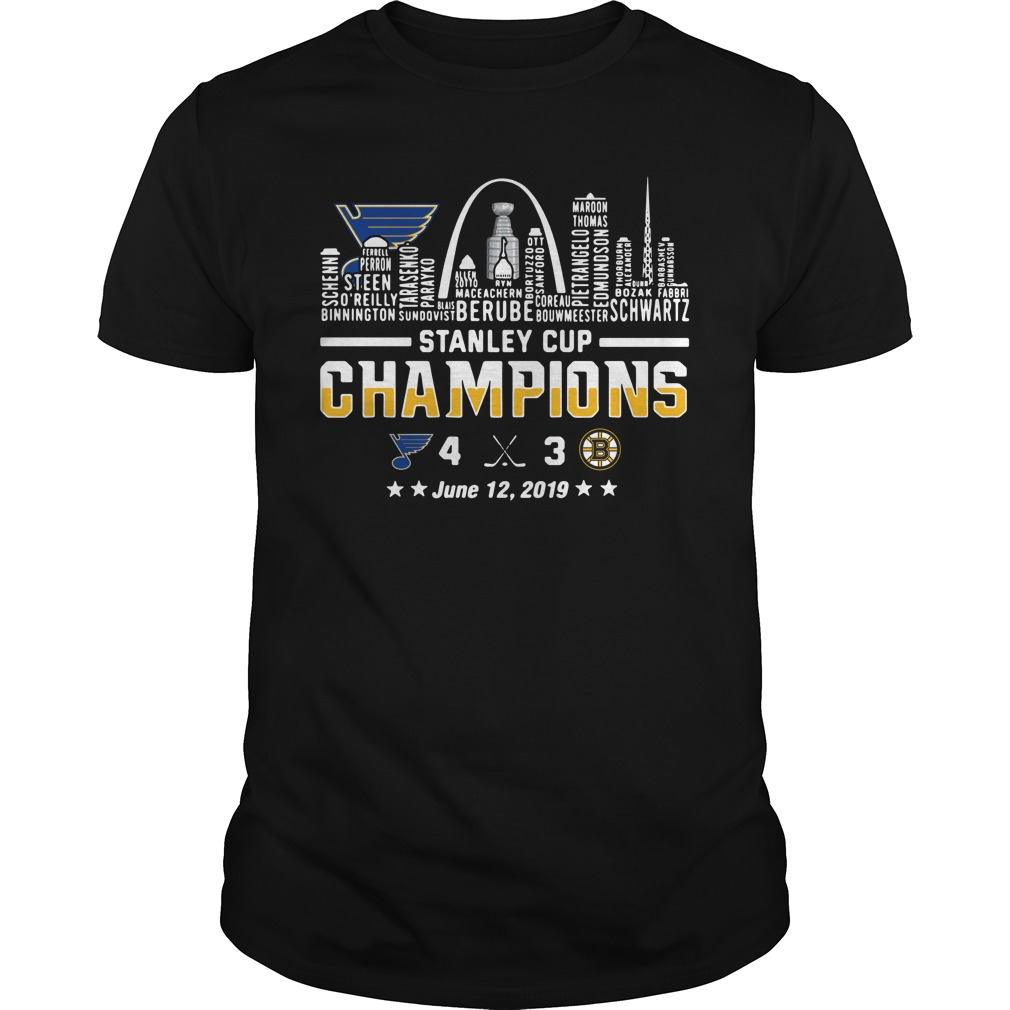 St Louis 2019 Stanley Cup Champions June 12, 2019 Guy Tees