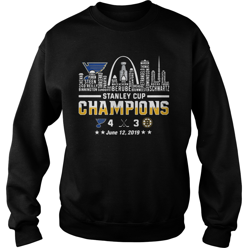 St Louis 2019 Stanley Cup Champions June 12, 2019 Sweater