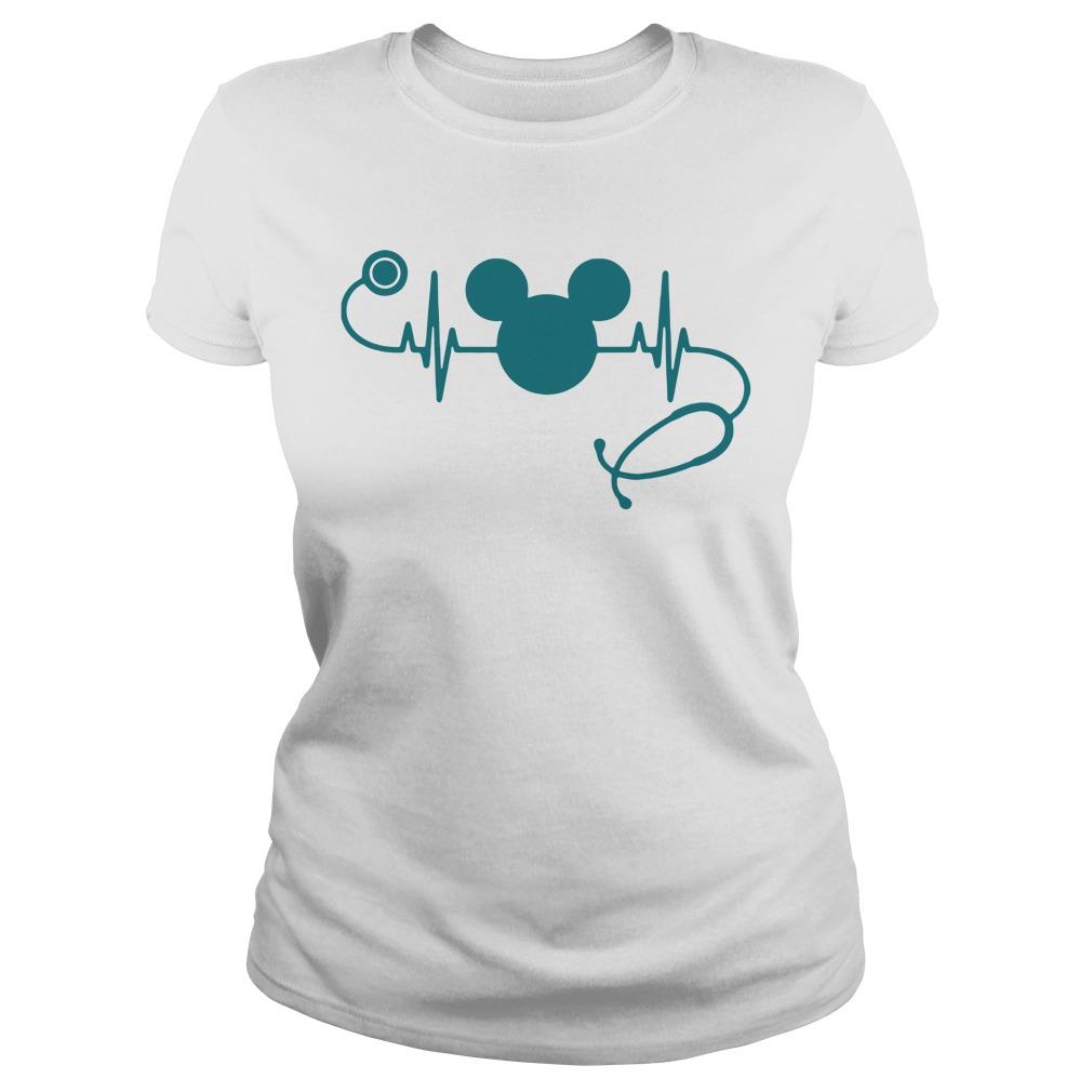 Stethoscope Ecg Mikey Ladies Tee