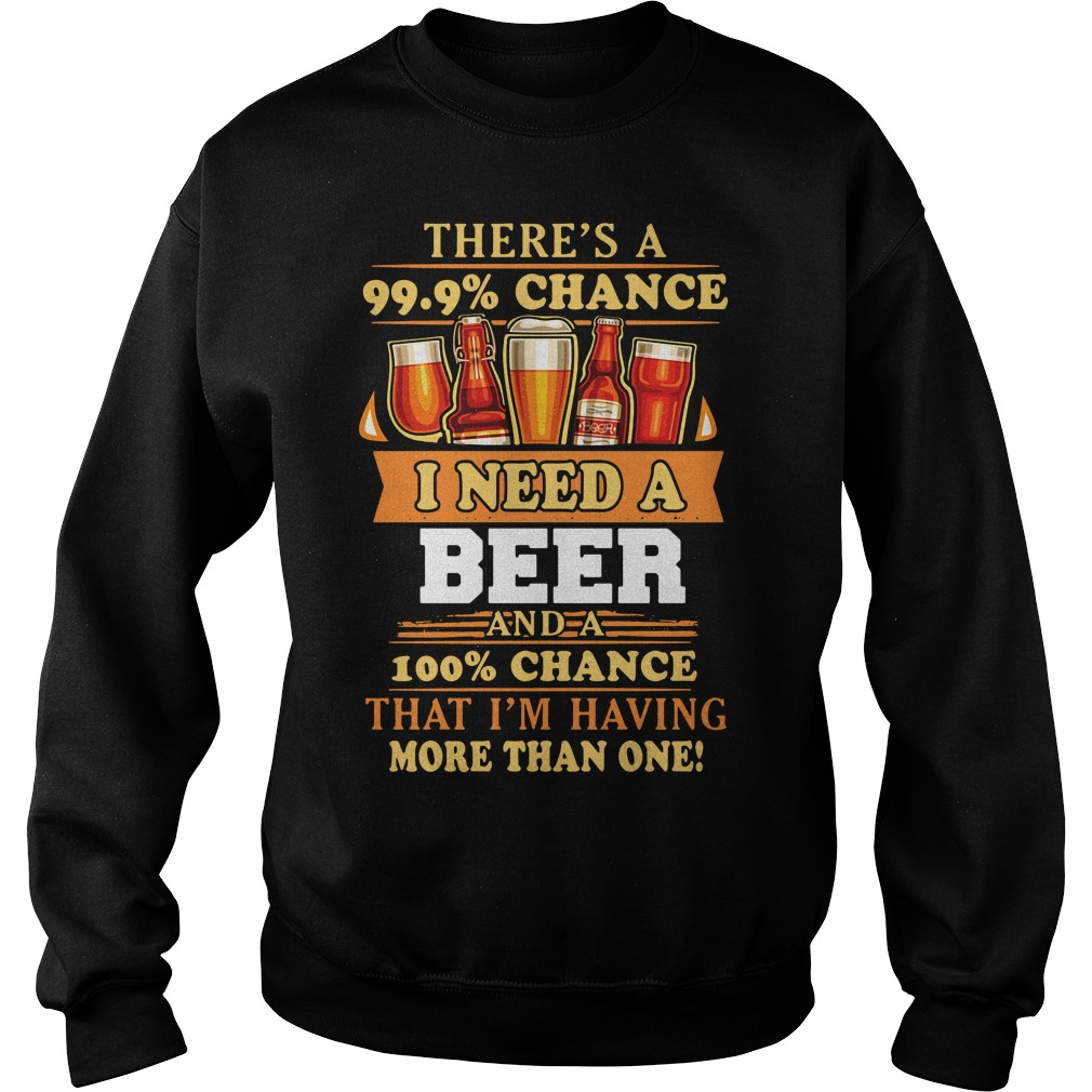 There'S A 99.9% Chance I Need A Beer Sweater