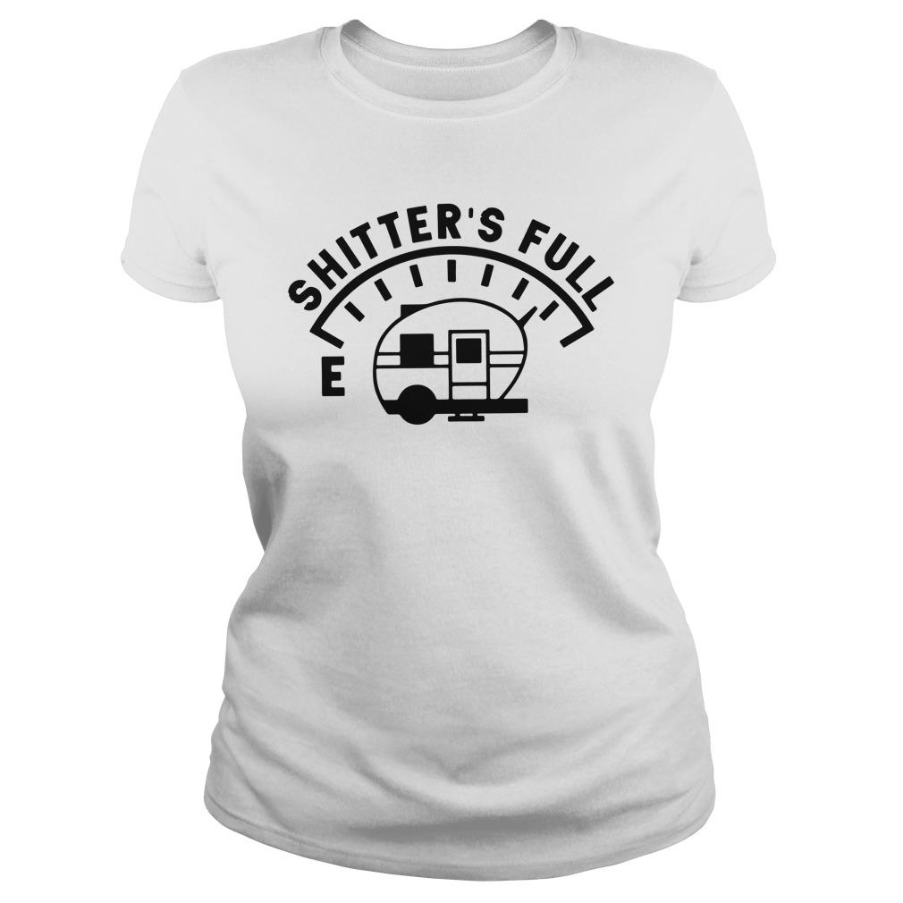 Camping Caravan Shitter'S Full Ladies Tee
