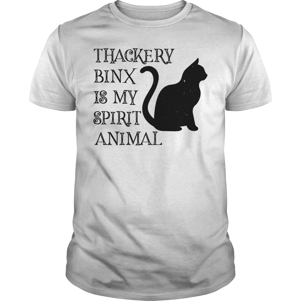 Hocus Pocus Black Cat Thackery Binx Is My Spirit Animal Guy Tees