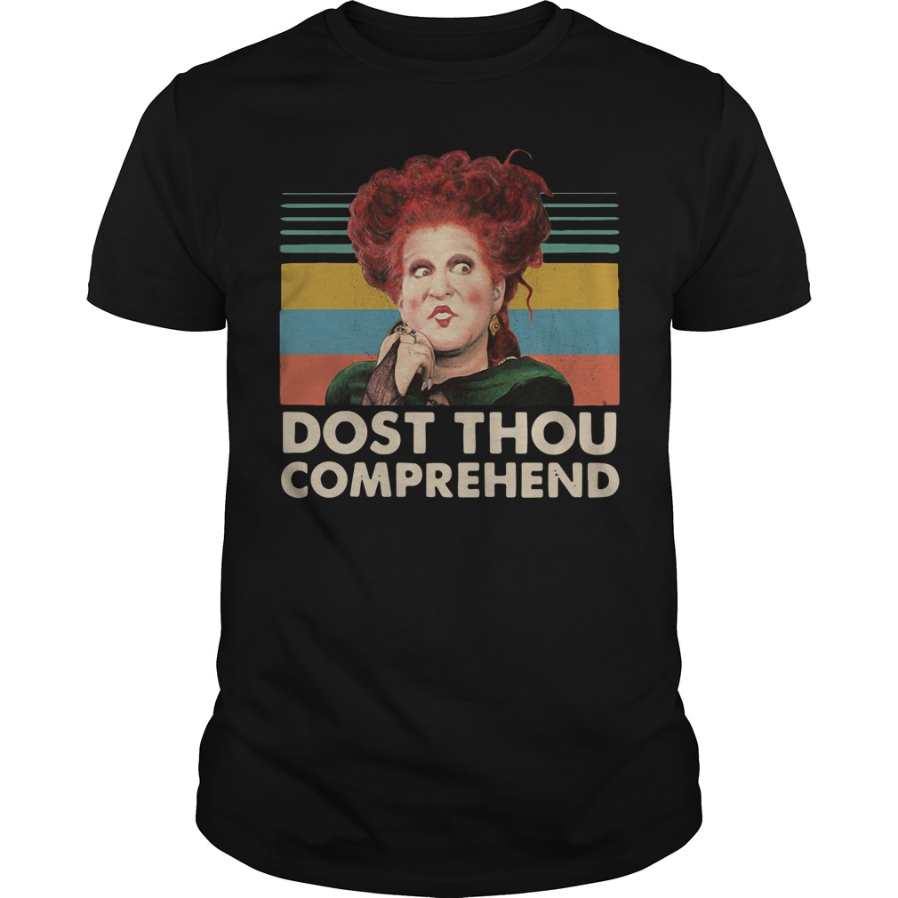 Hocus Pocus And Chill Dost Thou Comprehend Guy Tees