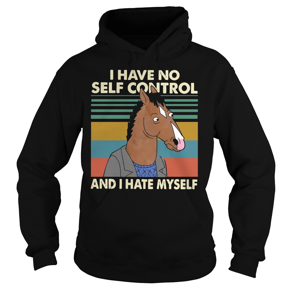 Horse I Have No Self Control And I Hate Myself Retro Hoodie