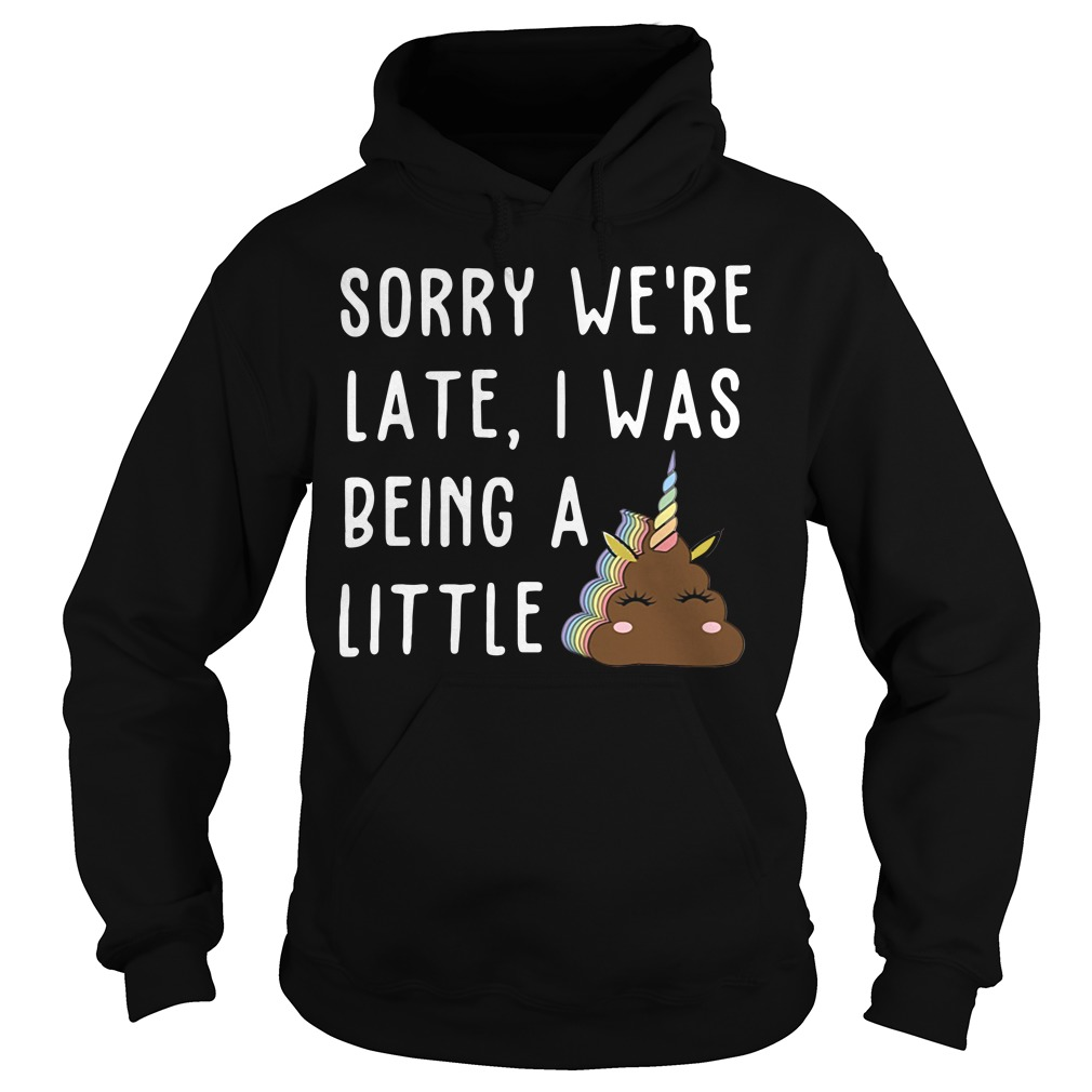 Sorry We'Re Late I Was Being A Little Unicorn Shit Hoodie