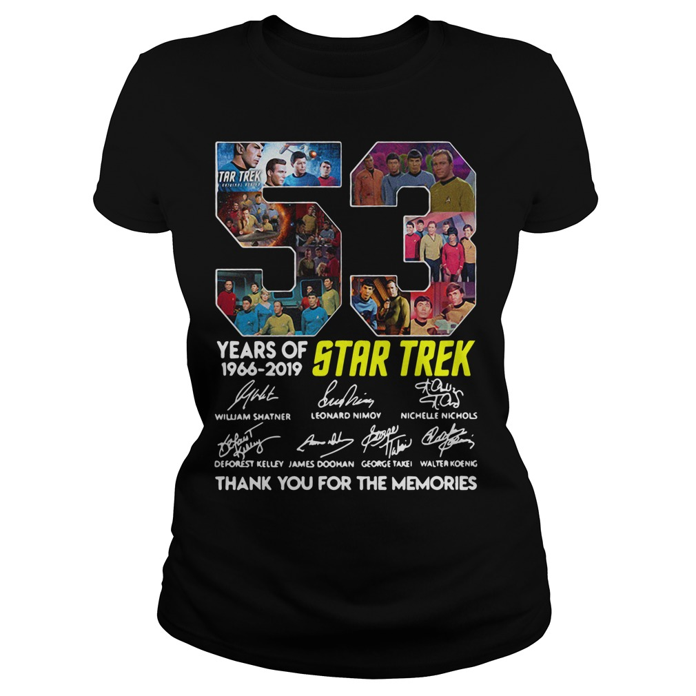 53 Years Of Star Trek 1966-2019 Thank You For The Memories Signature Ladies Tee