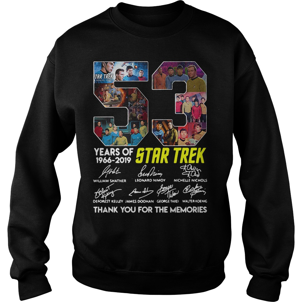 53 Years Of Star Trek 1966-2019 Thank You For The Memories Signature Hoodie