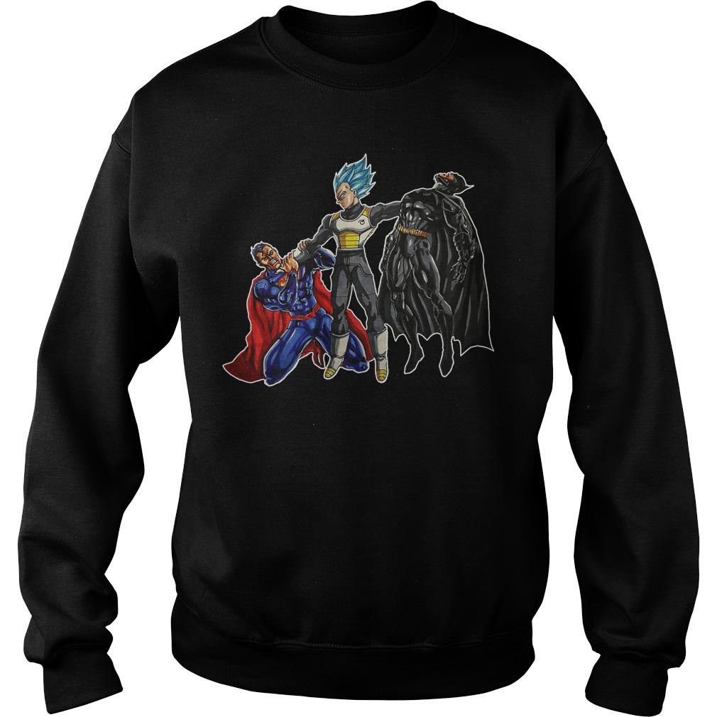 Goku Vegeta Vs Superman Batman Sweater