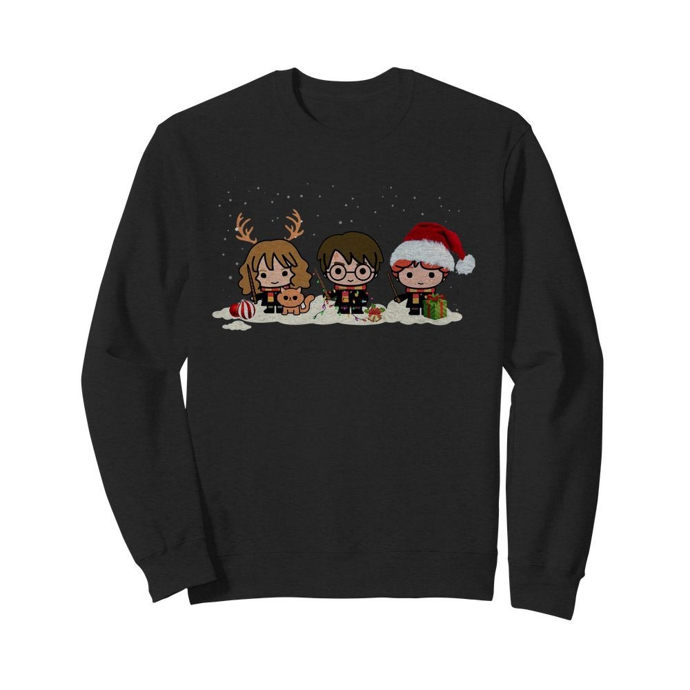 Baby Harry Potter characters chibi Christmas ugly sweater ...