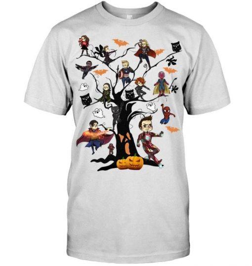 Marvel Avengers tree Halloween shirt