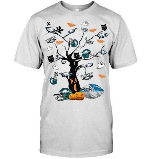 Philadelphia Eagles tree Halloween shirt