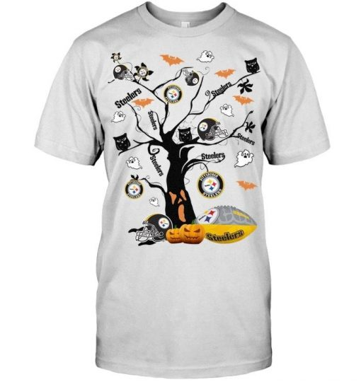 Pittsburgh Steelers tree Halloween shirt