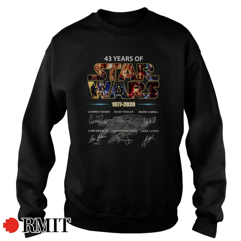 43 years of Star Wars 1977 - 2029 signatures Sweater