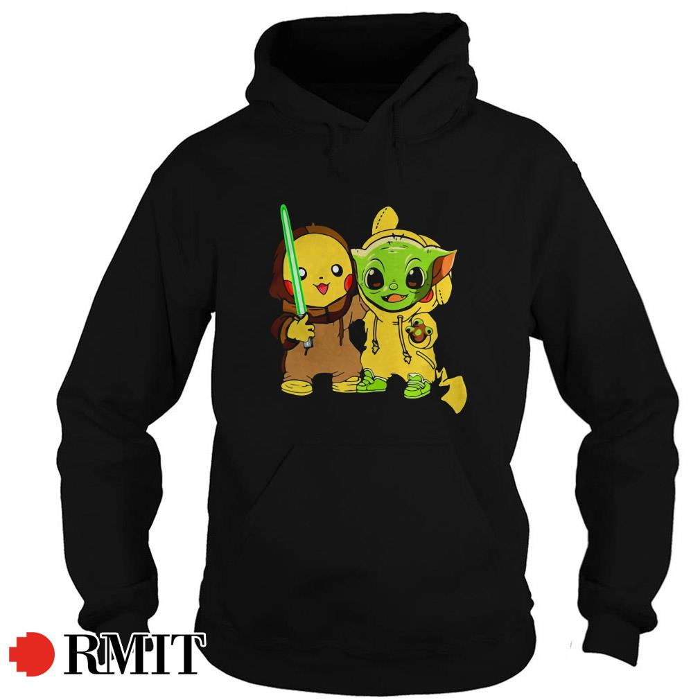 Baby Yoda and baby Pikachu best friends Hoodie