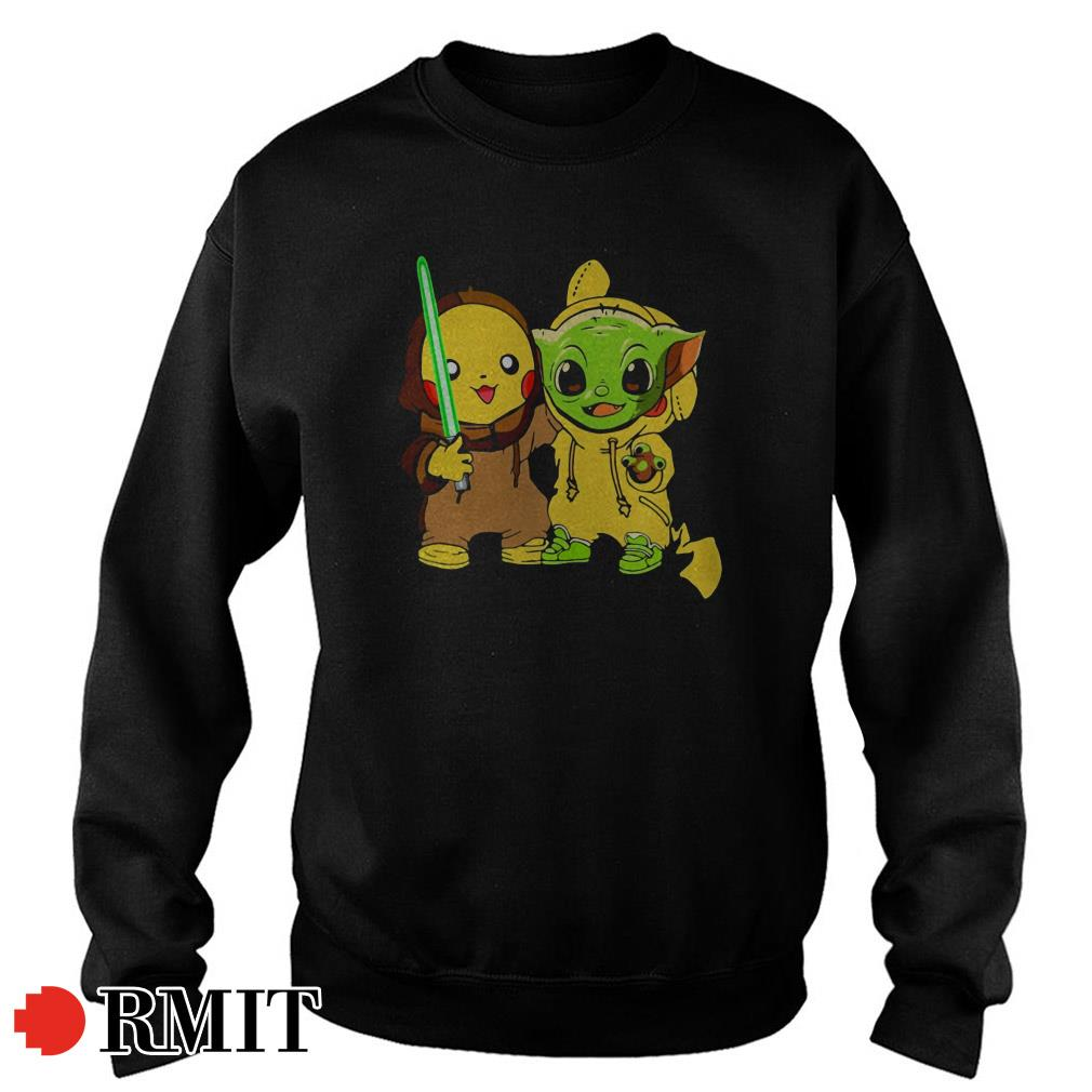 Baby Yoda and baby Pikachu best friends Sweater