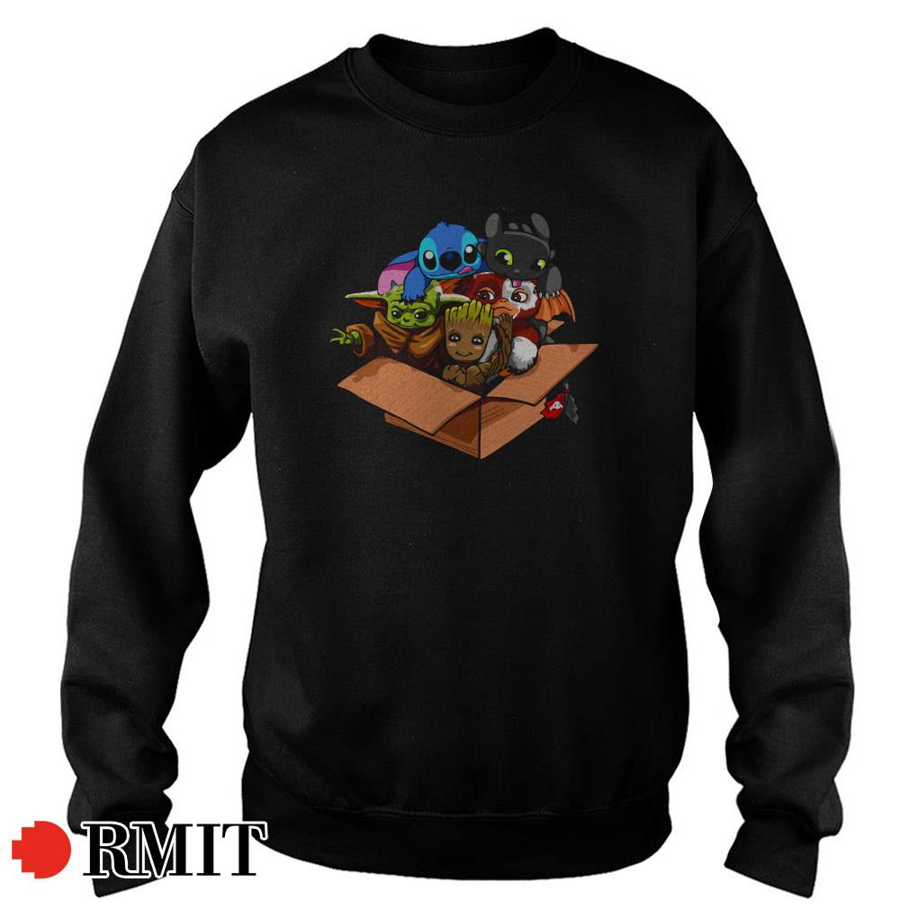 Baby Yoda Baby Gizmo Baby Groot Baby Stitch and Baby Toothless Sweater