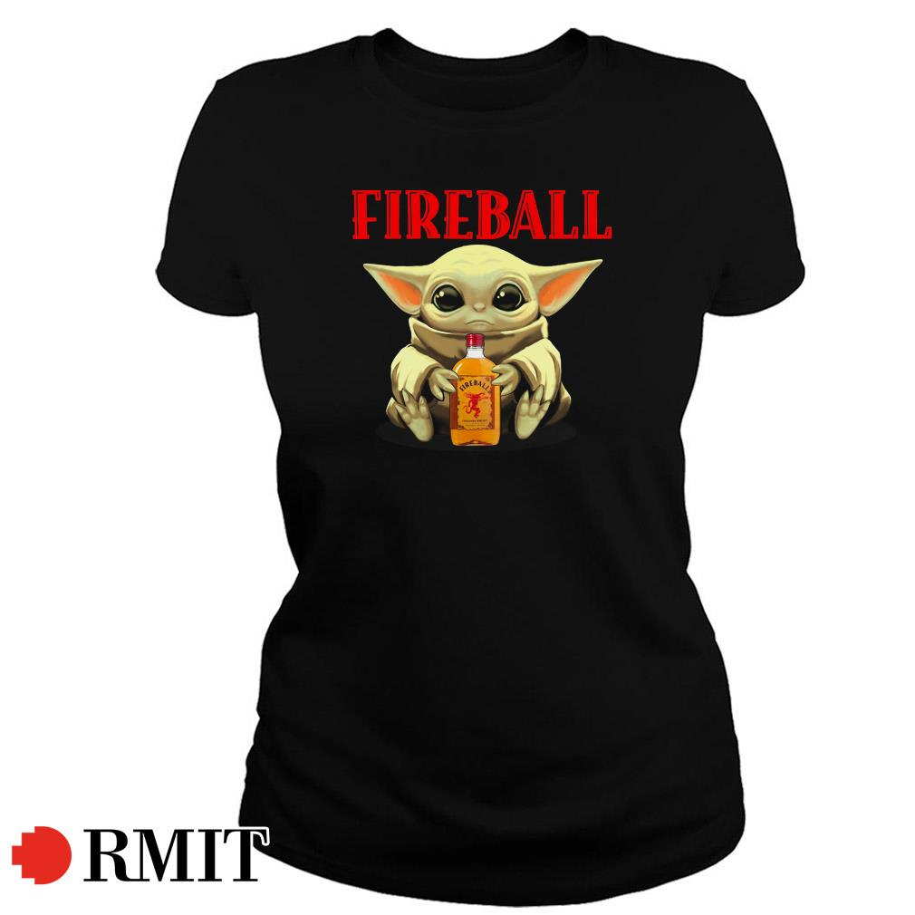 Baby Yoda Fireball Ladies Tee