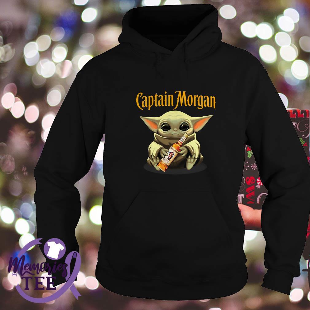 Baby Yoda hug Captain Morgan Star Wars Hoodie