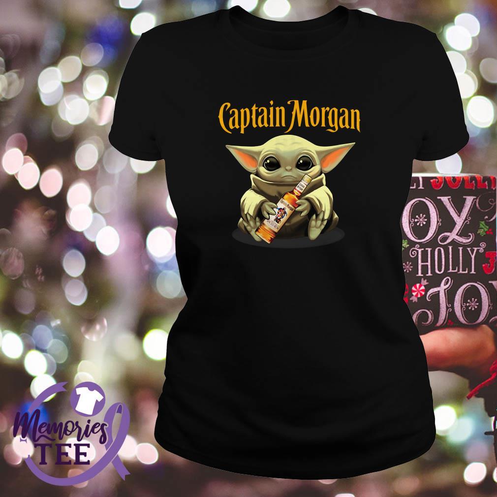 Baby Yoda hug Captain Morgan Star Wars Ladies Tee