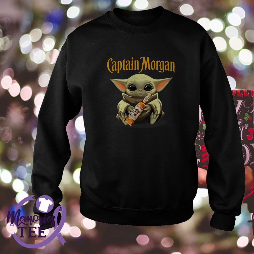 Baby Yoda hug Captain Morgan Star Wars Sweater