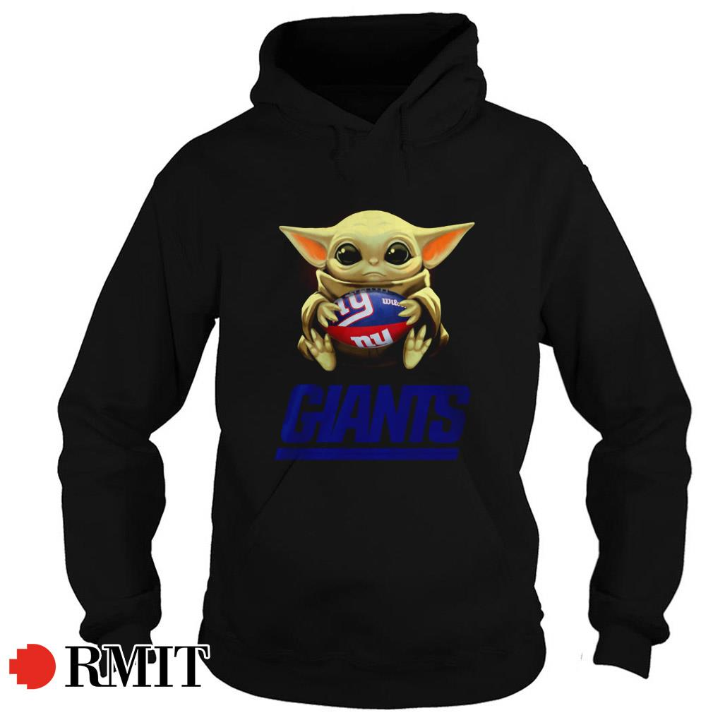 Baby Yoda hug New York Giants Hoodie