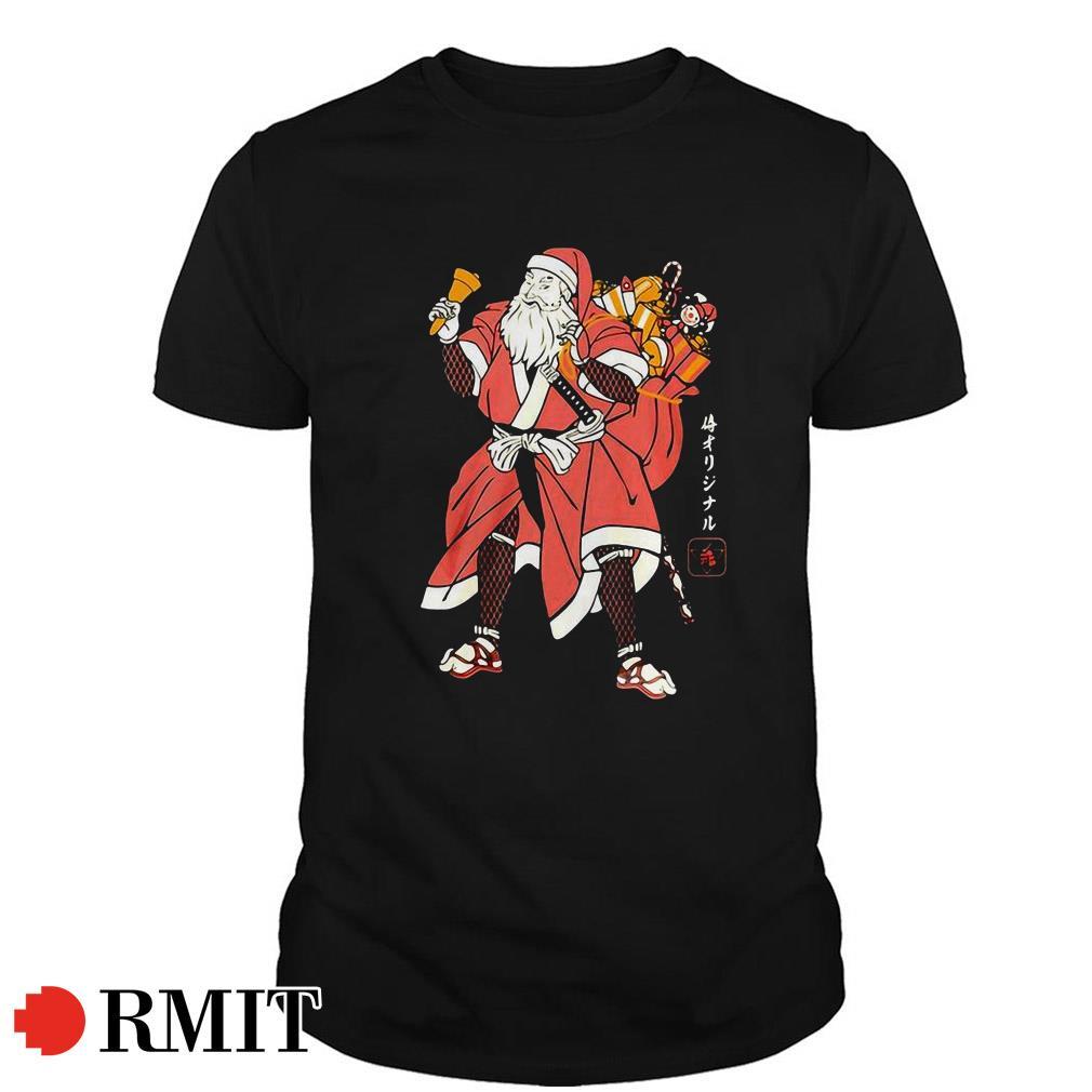 Christmas Santa Samurai Guys shirt