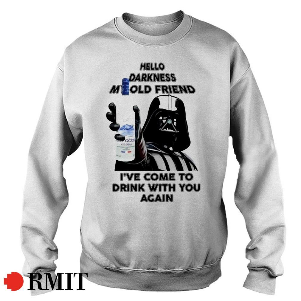 Darth Vader Grey Goose Vodka hello darkness my old friend Sweater