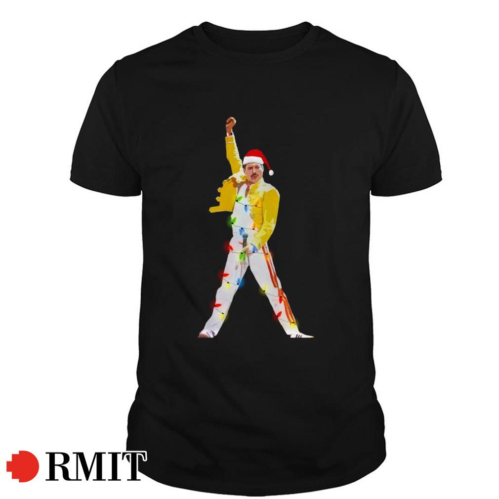 Freddie Mercury Santa Christmas Guys shirt