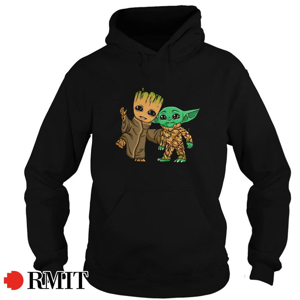 Groot and Yoda best friends Hoodie