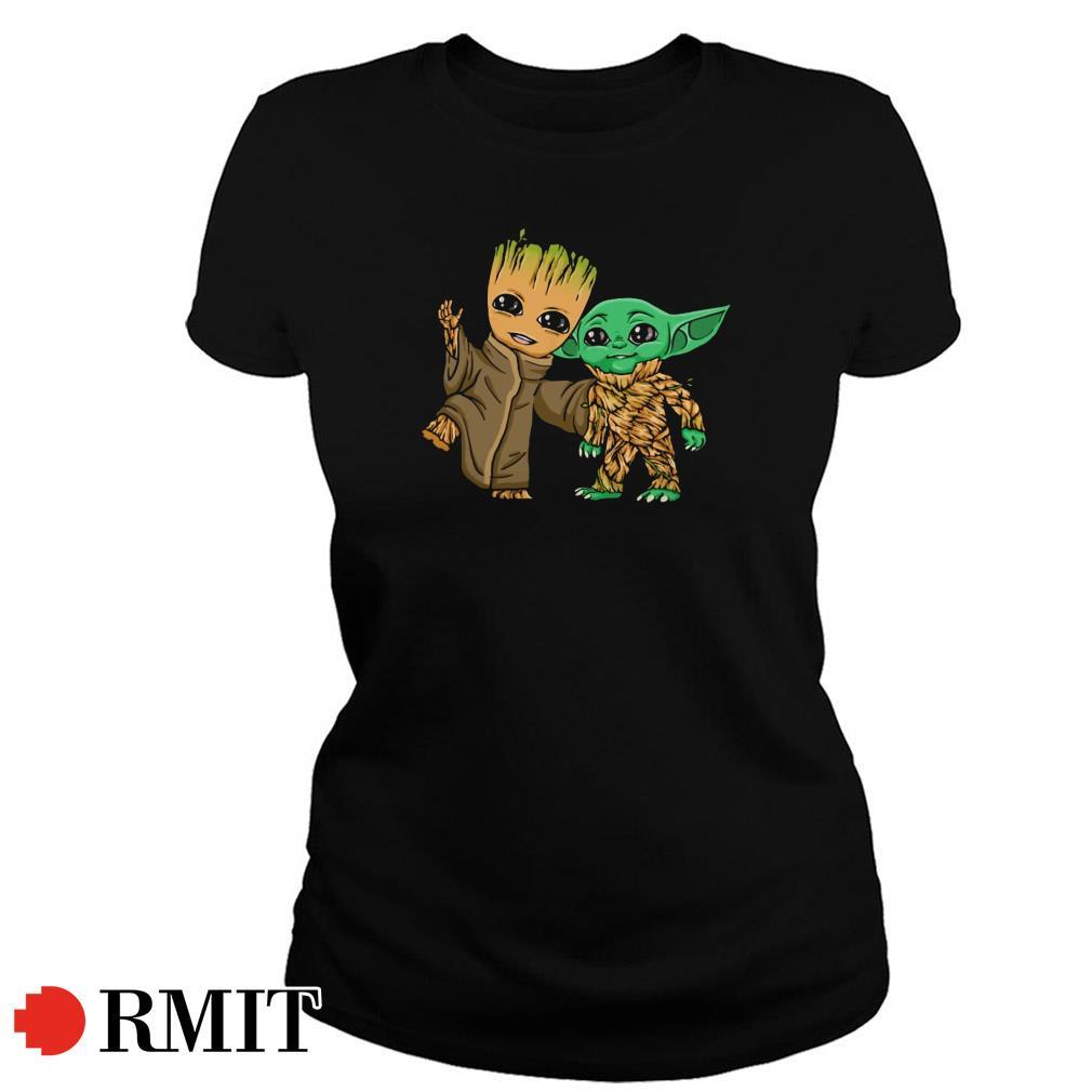 Groot and Yoda best friends Ladies Tee