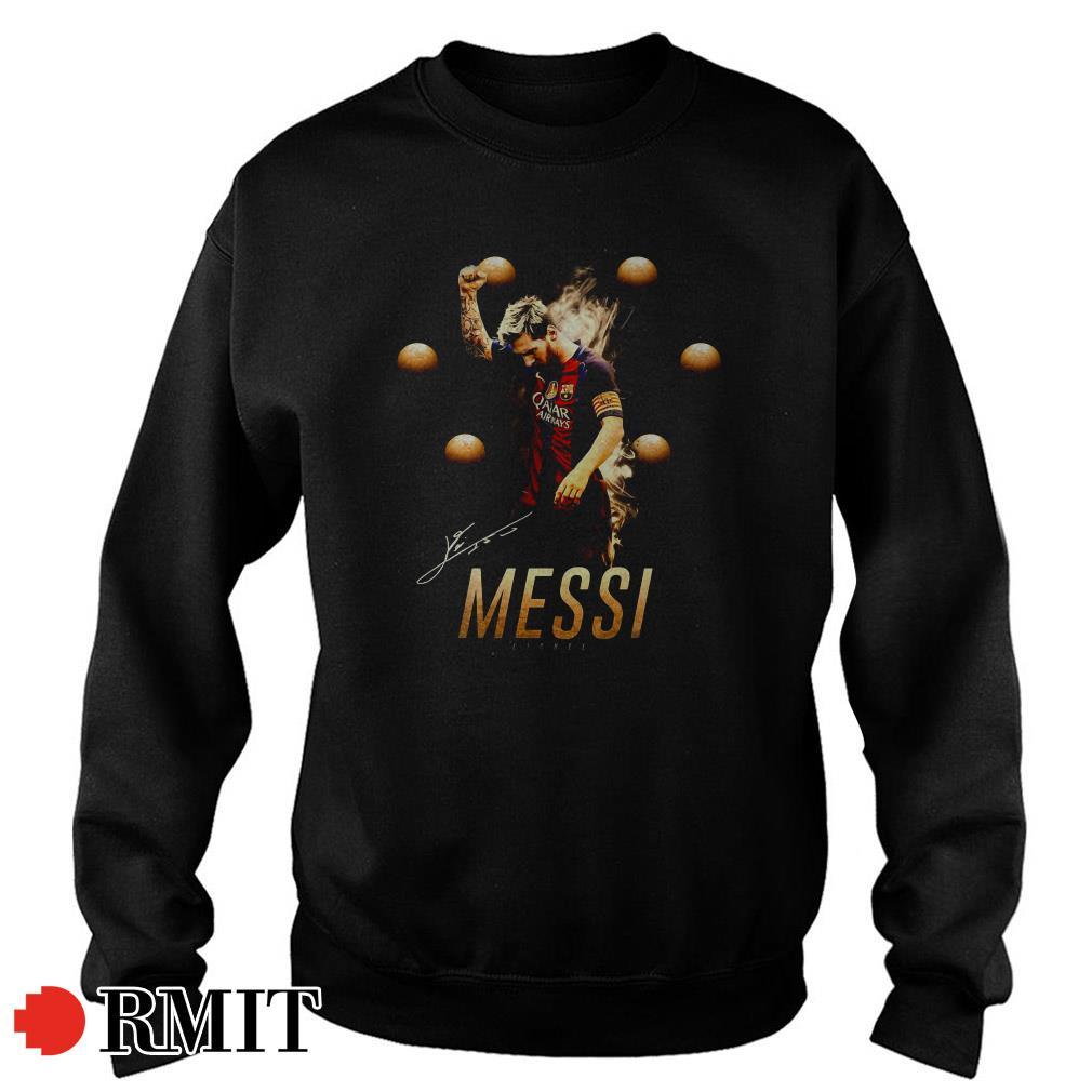 Lionel Messi sixth golden balls signatures Sweater