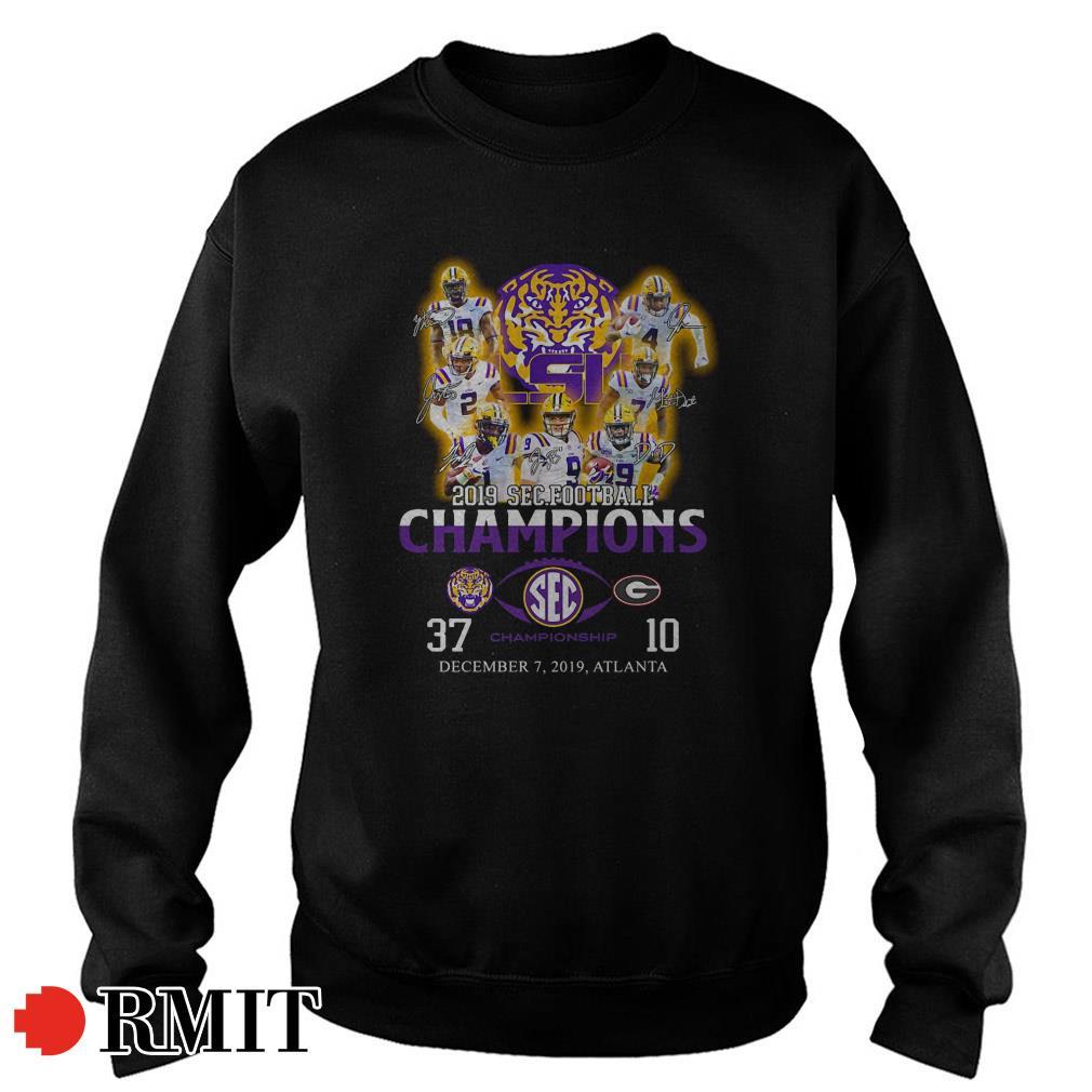 LSU Tigers 2019 SEC football Champions December 7 2019 Atlanta Sweater